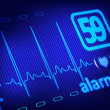 ECG alarm on medical monitor — Stock Photo #35555961