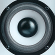 Stock Photo: Modern subwoofer speaker