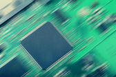 Microchip. Flow of information. abstract image — Stock Photo