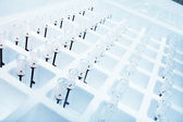 Equipment for laboratory research. Mini tubes. — Stock Photo