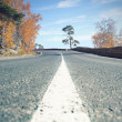 Stock Photo: Bend in road