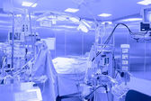 Surgical operating space. Blue toning.  — Stock Photo