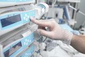 Using equipment in hospital — Stock Photo