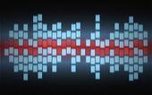 3 色の抽象的なぼやけたグラフ — ストック写真