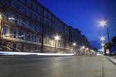 Calle la noche en el casco antiguo — Foto de Stock