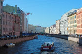 One of the river channel in Saint-Petersburg — Stock Photo