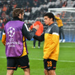 Srna and Taison before the match of the Champions League - Стоковая фотография