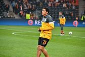 Taison before the match of the Champions League — Stock Photo