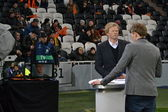 Oliver Kahn as a guest and expert of the match of the Champions League — Stock Photo