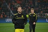 Football game Shakhtar -  Borussia — Stock Photo