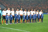 The match of the Champions League. Shakhtar team before match — Stock Photo