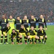 Borussia Dortmund is full proof before the start of the match — Stock Photo
