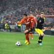 Taison in action during the Champions League match - Stock Photo