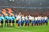 FC Shakhtar before the start of the match — Stock fotografie