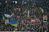 Fans at the football stadium — Foto de Stock