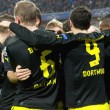 Borussia footballers after a goal scored - Foto de Stock
