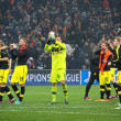 Footballers Borussia thank fans for their support - Foto Stock