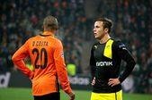Football match Shakhtar  - Borussia — Stock Photo