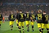 Borussia footballers after a goal scored — Stock Photo