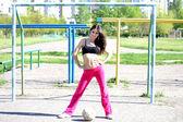 Giovane ragazza del calcio — Foto Stock