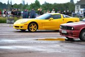 Unidentified driver during drag racing championship — Stockfoto
