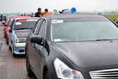 Unidentified drivers during drag racing championship — Stock Photo