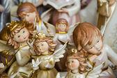 Keramické angels v pastelových barvách — Stock fotografie