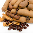 Tamarind is a popular food of Southeast Asia, North Africa and India — Stok fotoğraf