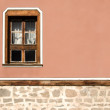 Horizontal part of the facade of the old building in Plovdiv — Stock Photo