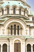 A door, an arch and a dome of the Alexander Nevsky Cathedral, So — Stock Photo