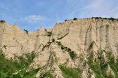 Melnik kum piramitleri en büyüleyici doğal fenomenler vardır — Stok fotoğraf