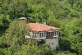 An aerial view of a house in Melnik, Bulgaria — Stock Photo