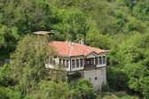 Una vista aérea de una casa en melnik, bulgaria — Foto de Stock