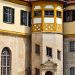 Detailed view in the court of castle Hohentubingen, Germany — Stock Photo