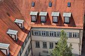 Střechy na starém městě tuebingen, Německo — Stock fotografie