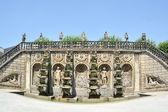 Grand cascade i herrenhausens trädgårdar, barock trädgårdar, esta — Stockfoto