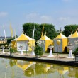 Yellow tents in Herrenhausen Gardens, Hannover, Lower Saxony, Ge — Stock Photo #39170027