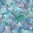Stock Photo: Background of randomly scattered hearts