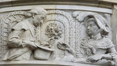 Sculpture of a couple, new town hall of Hanover, Germany — Stock Photo