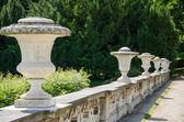 Decorative stone fence in a park in Potsdam, Brandenburg, German — Stock Photo