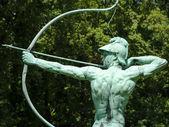 Archer statue in Sanssouci Park, Potsdam, Germany, Europe — Stock Photo