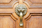 Door and handle in the old city, Sofia, Bulgaria — Stock Photo