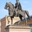 Statue of Ernest Augustus I in front of the Hannover central sta — Stock Photo