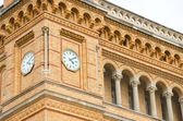 Clock tower of the Hannover central station — Stock Photo
