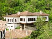 Aerial view of Melnik traditional architecture, Bulgaria — Stock Photo