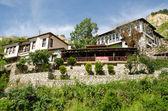 Strassenansicht Melnik traditionelle Architektur, Bulgarien — Stockfoto