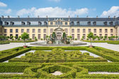 The old palace of Herrenhausen gardens, Hannover, Germany — Stock Photo