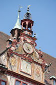 Detail of the old rathaus, Tubingen old town, Germany — Stock Photo