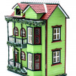 Two storey dollhouse — Stock Photo