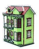 Two storey dollhouse — Stock Photo